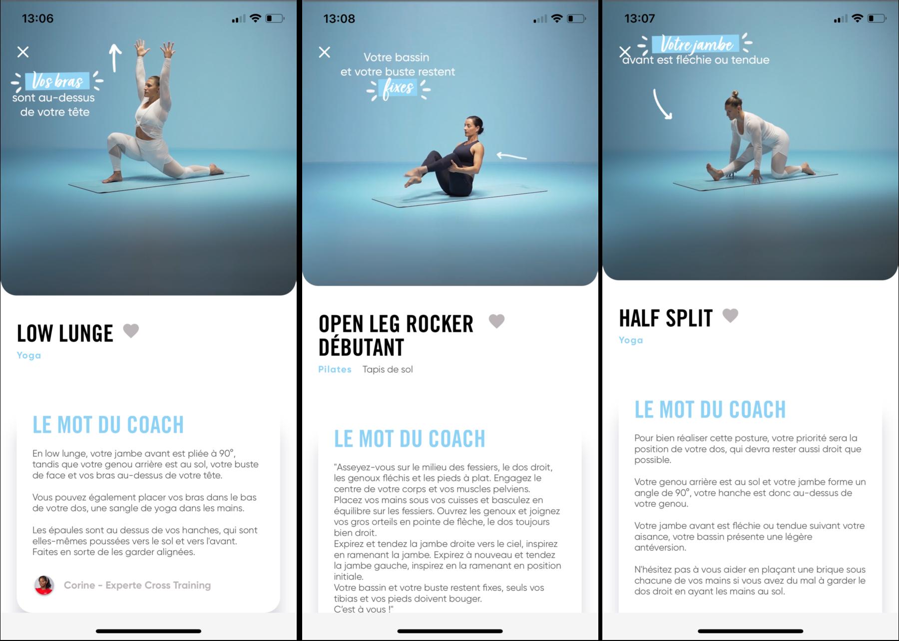 Rédaction des programmes sportifs pour l'application Neoness by Digilia
